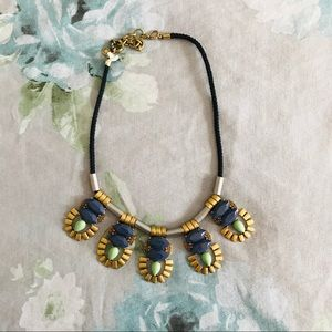 J. Crew statement necklace rope boho aztec metal